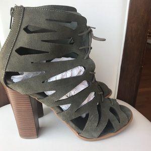 2f237ae461a5c Mia. Mia Cara Gladiator Olive Suede Sandals ...